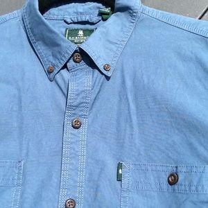 NWOT Blue Jean Color G.H. Bass & Co. Shirt  Large